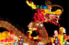 Linterna del dragón en el festival de linterna de Singapur Fotografía de archivo libre de regalías