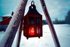 Linterna del invierno Imágenes de archivo libres de regalías