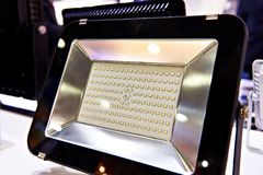 Linterna del LED en tienda Fotos de archivo