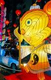 Linterna del ratón en Chinatown, Rangún, Myanmar Foto de archivo