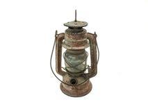 Linterna del vintage aislada Fotografía de archivo