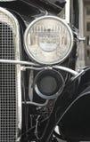 Linterna delantera de un coche retro Fotografía de archivo