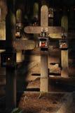 Linterna en cementerio Fotografía de archivo libre de regalías