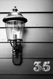 Linterna en el número 35 Foto de archivo
