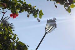 Linterna en fondo del cielo foto de archivo