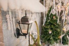 Linterna en la casa Foto de archivo libre de regalías