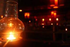 Linterna en oscuridad Imagen de archivo