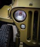Linterna en un vehículo militar viejo Fotos de archivo libres de regalías