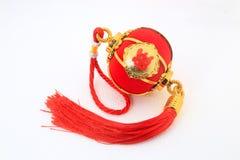 Linterna esférica roja de la forma para la decoración china del Año Nuevo sobre el fondo blanco Fotos de archivo libres de regalías