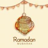 Linterna floral para la celebración de Ramadan Mubarak Fotografía de archivo