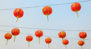 Linterna hermosa del estilo chino Foto de archivo