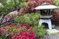 Linterna japonesa del jardín Foto de archivo libre de regalías