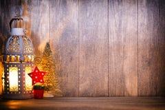 Linterna Luz de la Navidad, decoración de la Navidad y escena Fotos de archivo libres de regalías
