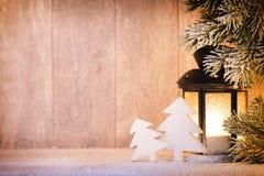Linterna Luz de la Navidad, decoración de la Navidad y escena Fotos de archivo