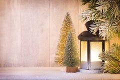 Linterna Luz de la Navidad, decoración de la Navidad y escena Foto de archivo