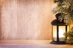 Linterna Luz de la Navidad, decoración de la Navidad y escena Fotografía de archivo