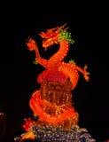 Linterna oriental del dragón Imagen de archivo