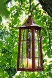 Linterna pintoresca de la vela Fotografía de archivo libre de regalías