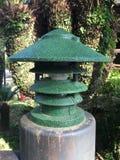 Linterna rústica verde Imágenes de archivo libres de regalías