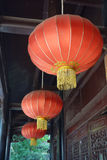 Linterna roja china Fotos de archivo
