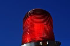 Linterna roja de la emergencia Imagen de archivo libre de regalías