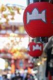 Linterna roja en Asakusa, Japón fotografía de archivo libre de regalías