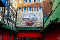 Linterna roja en el Año Nuevo chino de Chinatown Londres Fotografía de archivo libre de regalías