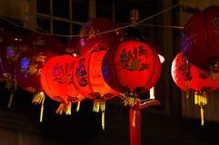 Linterna roja en el Año Nuevo chino de Chinatown Londres Foto de archivo