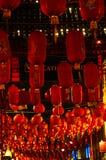 Linterna roja en el Año Nuevo chino de Chinatown Londres Imagenes de archivo