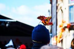Linterna roja en el Año Nuevo chino de Chinatown Londres Imágenes de archivo libres de regalías