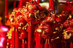 Linterna roja en el Año Nuevo chino de Chinatown Londres Imagen de archivo