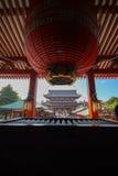 Linterna roja en Japón imagen de archivo
