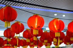 Linterna roja en ocasión del Año Nuevo chino 2017 Foto de archivo libre de regalías