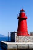 Linterna roja, isla de Giglio, Italia Fotografía de archivo libre de regalías