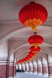 Linterna roja tradicional china Imágenes de archivo libres de regalías