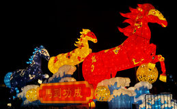 Linterna tradicional china del caballo Imagen de archivo