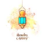Linterna tradicional para Ramadan Kareem Imágenes de archivo libres de regalías