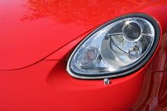 Linterna y capucha del coche elegante Fotografía de archivo