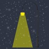 Linterna y noche Stock de ilustración