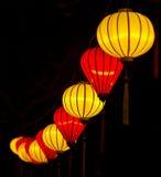Linternas amarillas y rojas chinas fotos de archivo libres de regalías