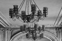 Linternas blancos y negros únicas Imagenes de archivo