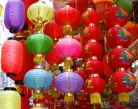 Linternas chinas brillantes Imágenes de archivo libres de regalías
