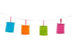 Linternas chinas coloridas Foto de archivo libre de regalías