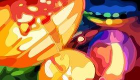 Linternas chinas coloridas Fotografía de archivo