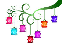Linternas chinas coloridas Fotografía de archivo libre de regalías