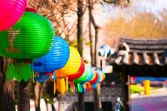 Linternas chinas coloridas Imagenes de archivo