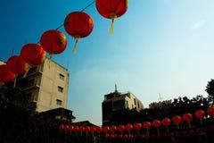 Linternas chinas del Año Nuevo chino en Chinatown, Bangkok, tailandesa Imágenes de archivo libres de regalías