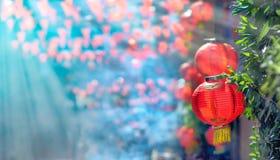 Linternas chinas del Año Nuevo en ciudad de China Fotografía de archivo libre de regalías