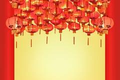 Linternas chinas del Año Nuevo en ciudad de China Fotos de archivo libres de regalías