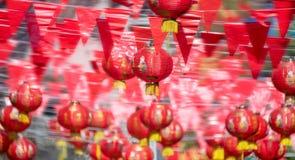 Linternas chinas del Año Nuevo en ciudad de China Imagen de archivo libre de regalías